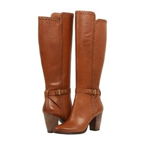 UGG Claudine Chestnut Brown Leather Tall Boot 8.5